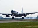 南航包机降落桃园机场