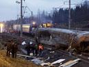 列车出轨事故现场