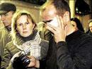 伤者被带到莫斯科火车站