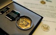驻伊拉克美军获得奖章