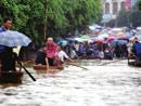 融水县城被洪水淹没